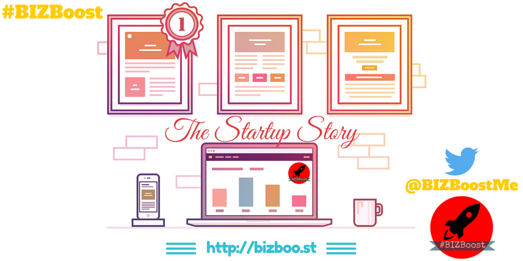 The Startup Story - Twitter and Blog #BIZBoost Creative
